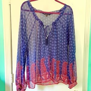 NWOT Victoria's Secret Sheer Blouse